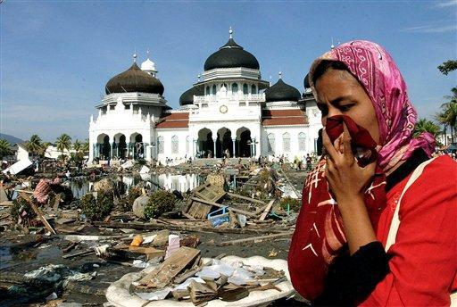 ... after a 7.4 magnitude earthquake struck near the province of Aceh